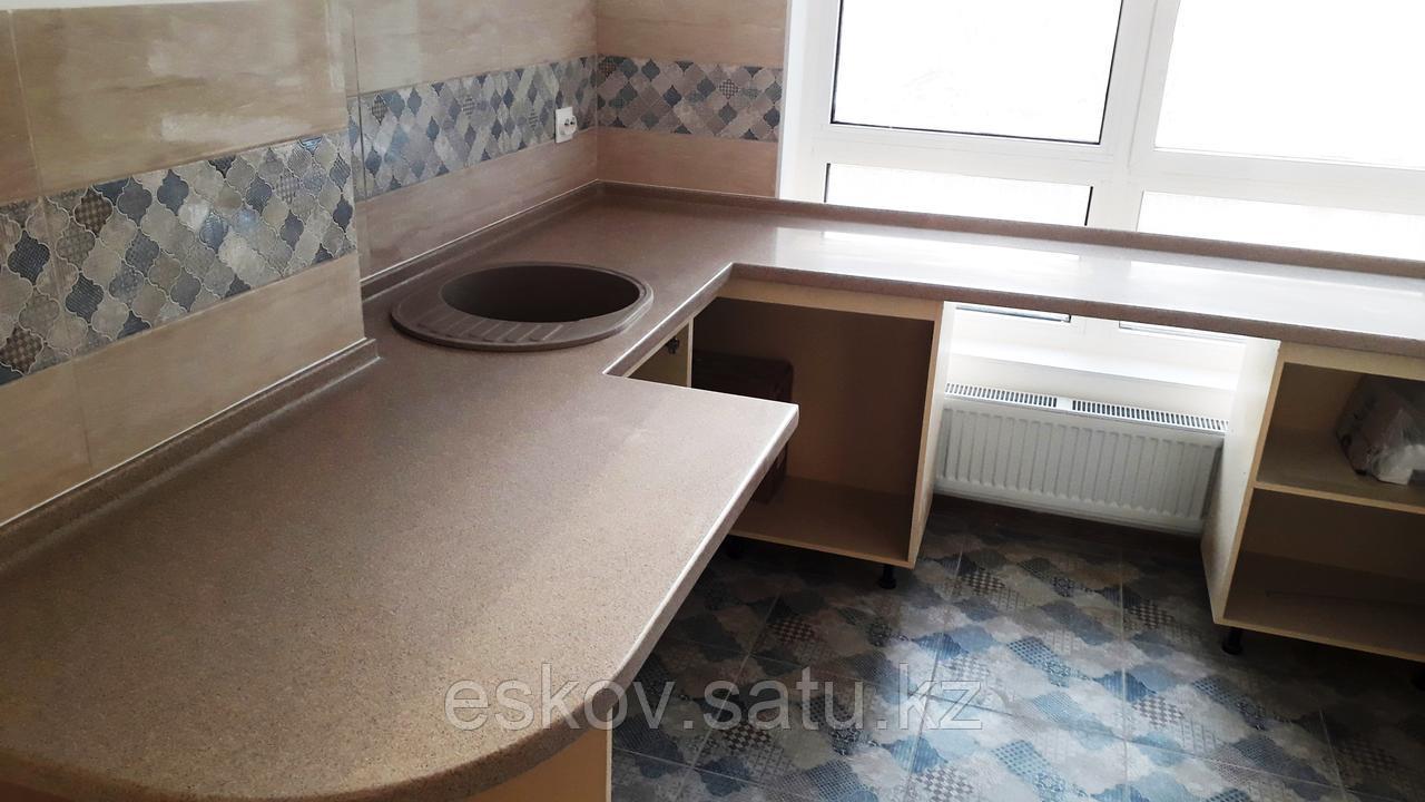 Столешницы для кухни и ванной комнаты. Долговечный материал и индивидуальный дизайн.