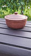 Кастрюля 1.8 литра,красная глина
