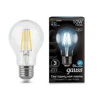 Лампа светодиодная Gauss филаментная Black Filament 10Вт A60 4100К E27 102802210
