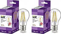 Лампа светодиодная IEK филаментная 360° 7Вт G45 шар 4000К E27 230В прозр. LLF-G45-7-230-40-E27-CL