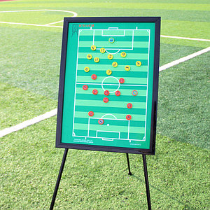Доска тактическая для футбола на треноге (30 см x 45 см)