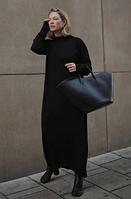 Платье черное оверсайз