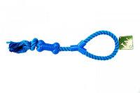 № 1 Грейфер с петлей и узлами, синий, 40 см