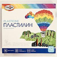 Пластилин ГАММА Классический 12 цветов