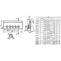 Резец Зубострогальный 100х43 тип 3, для диапазона модулей m 1,5-1,75 20 градусов усов Р6М5 (2552-0041)
