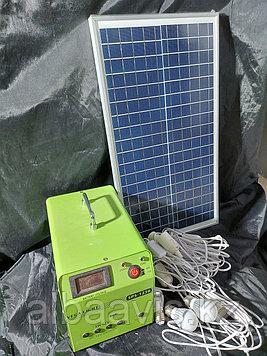 Солнечная система освещения, солнечная станция . Переносная солнечная станция. Туристическая солнечная станция