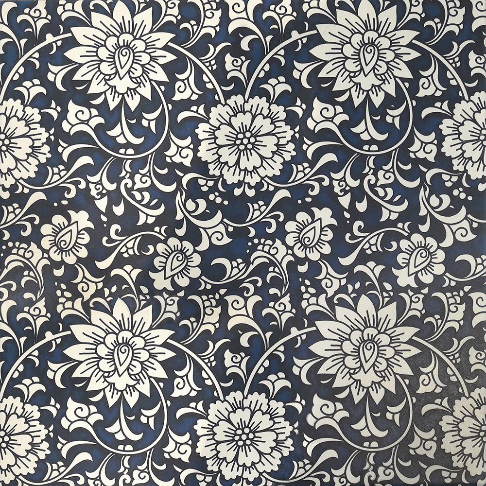 Плитка для пола глазурованная Medea Flower BLT 400x400 /9