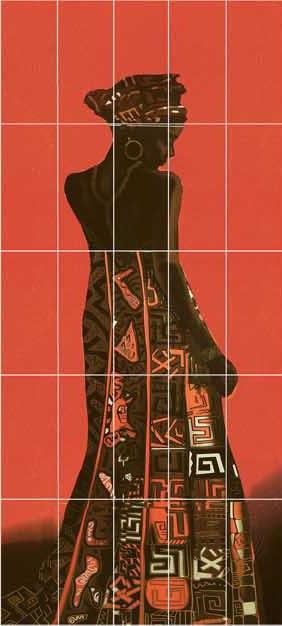 Декор-панно Naomi (1475x2975) D6/G