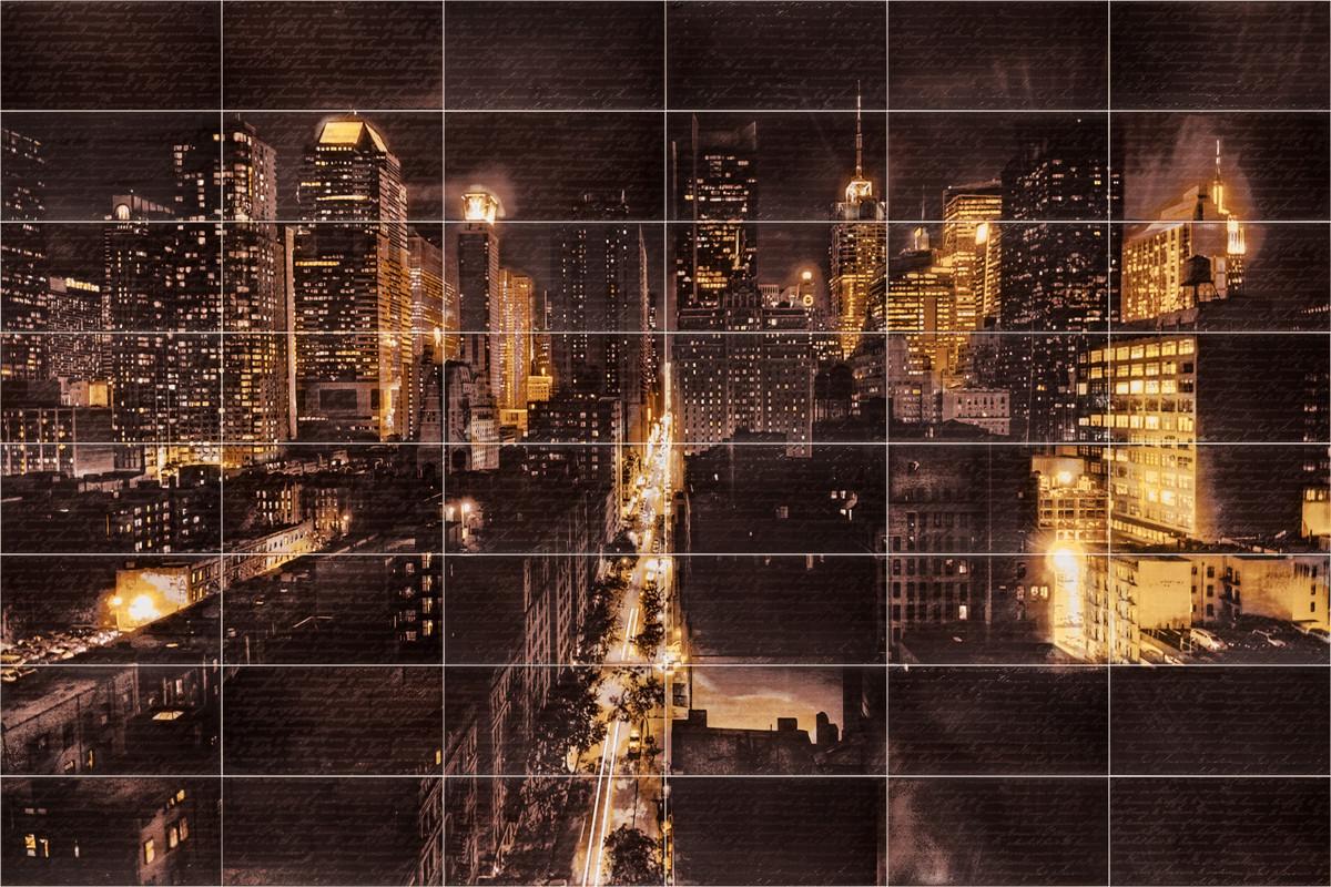 Декор-панно Night City M (3570x2360) D6