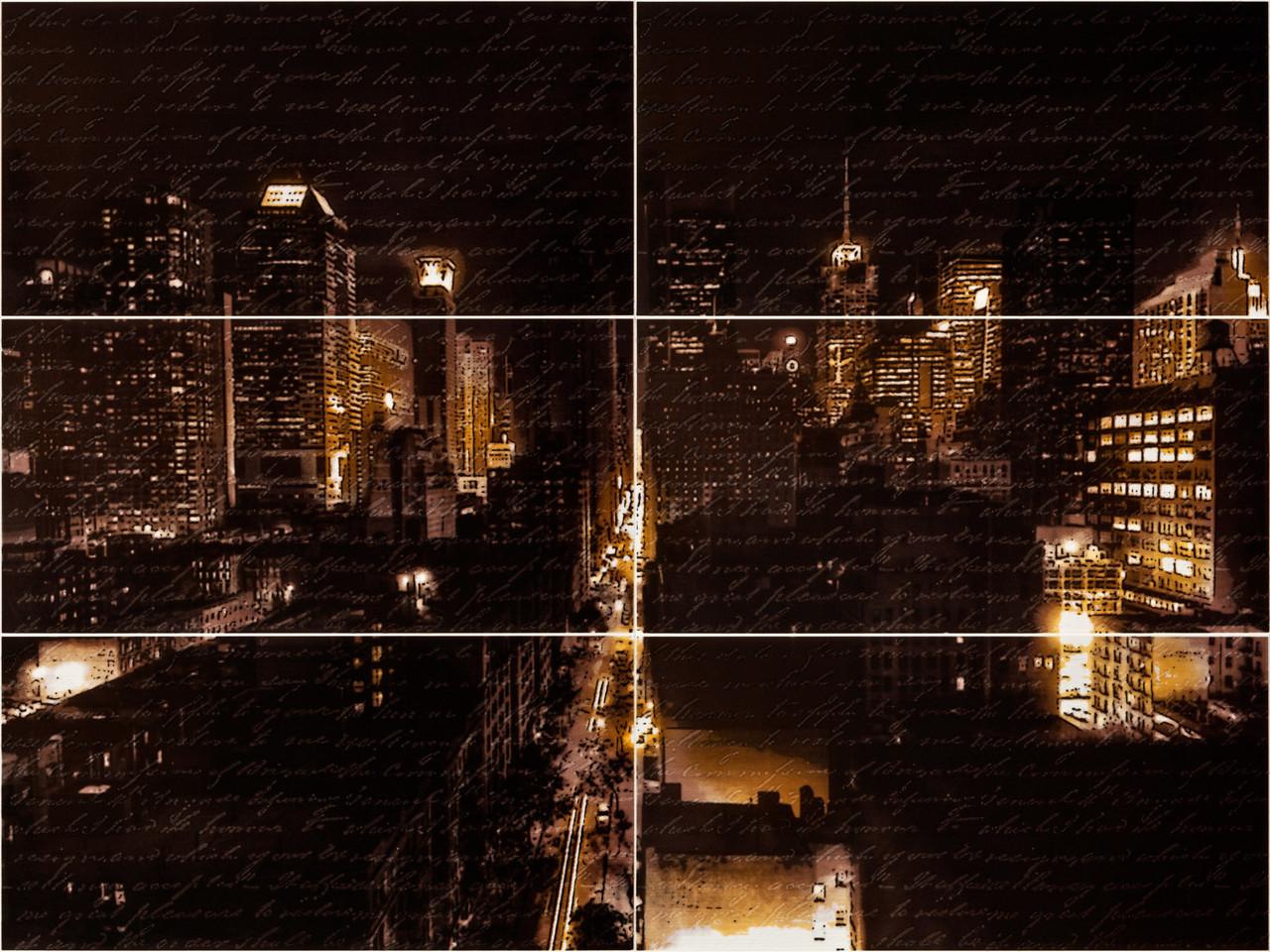Декор-панно Night City Mini M 885x1190 D6