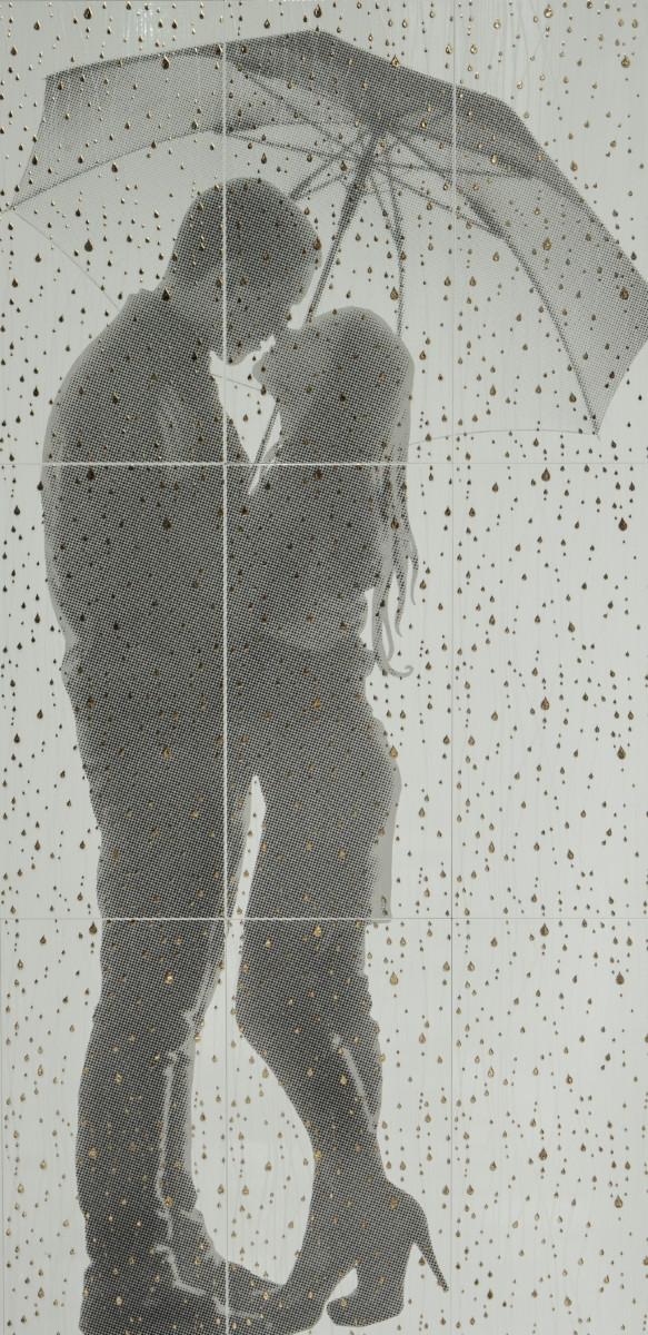 Декор-панно Rain W 885x1785 D6/LG /7