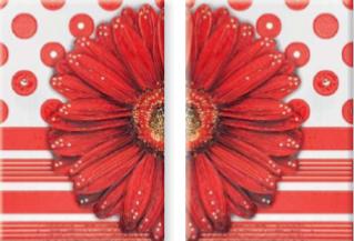 Декор-панно Vitel Gerbera Big R 550x400 D2/G