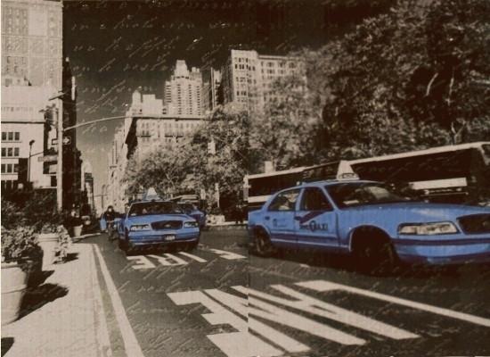 Декор-панно Vitel Taxi2 BL (550x400) D2