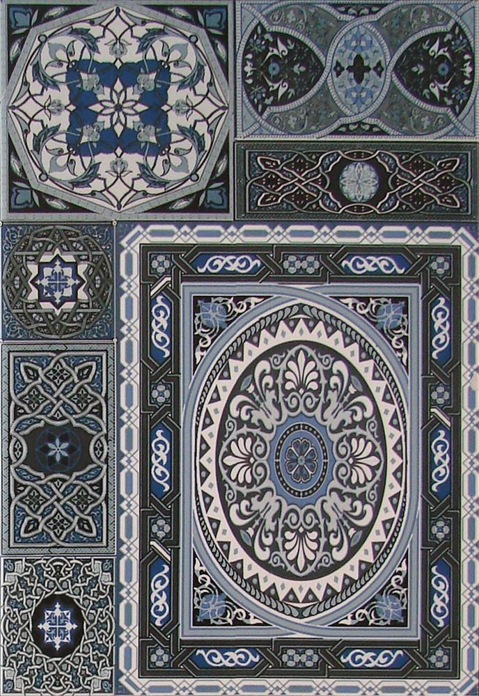Плитка облицовочная Aladdin Pattern Mix BL 275x400