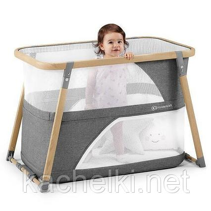 Кроватка-манеж 4в1 Kinderkraft 🇪🇺 SOFI Grey