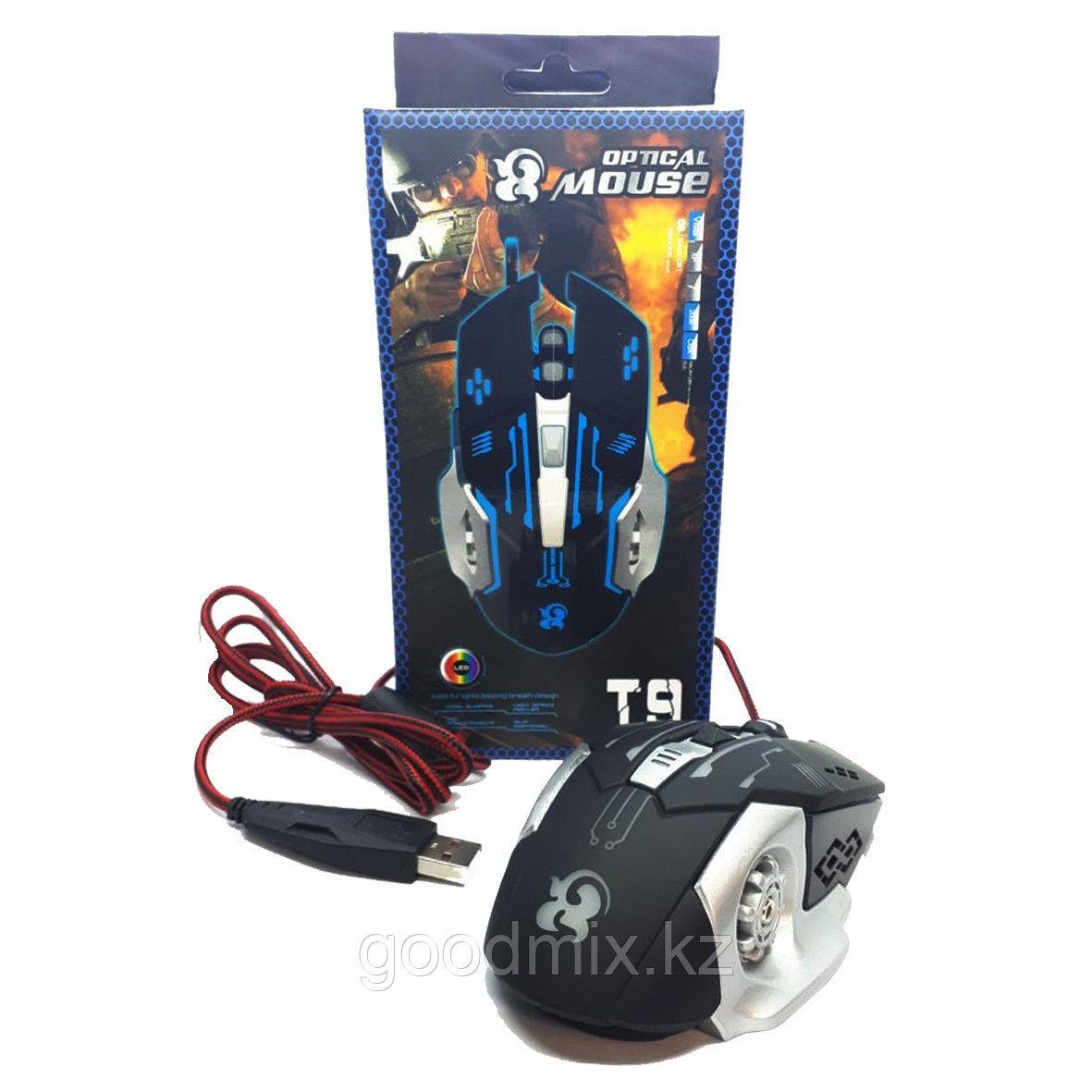 Игровая мышь T9 , 3600 dpi/ USB/ Black Silver