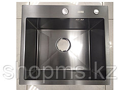 Мойка Avina к-т (сифон с переливом, диспенсер) HM 5045 черная