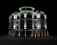 Заливка световая фасада здания, освещение линейное, направленое освещение фасадов. Подбор оборудования