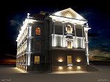 Заливка световая фасада здания, освещение линейное, направленое освещение фасадов. Подбор оборудования, фото 3