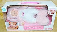 3353 Спящий младенец Honey bunny в комбинезоне зайчика, 10фраз,музыка 32*18см, фото 1