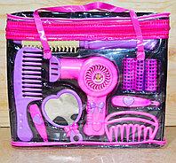 A113 Фен набор Beauty salon в сумочке розовый/фиолет 10предметов