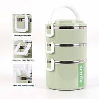 Термос-ланч-бокс для вкусных обедов Smile MS-9609 (Оливковый / 2,5 литра)