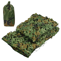 Сеть-навес маскировочная с чехлом «Зеленый камуфляж» (2 х 10 метра)
