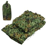 Сеть-навес маскировочная с чехлом «Зеленый камуфляж» (4 х 6 метра)