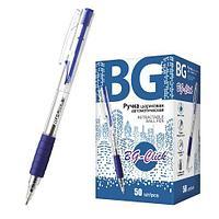 """Ручка шариковая автоматическая с грипом 0.7 мм """"BG-CLICK"""", синий"""