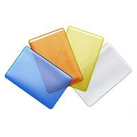Обложка-карман для проездных документов и карт (50шт.) ДПС, 65*98мм, ПВХ, прозрачно-цветной