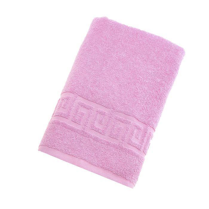 Полотенце махровое однотонное Антей цв розовый 70*140см 100% хлопок 430 гр/м2