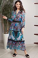 Женское осеннее платье Teffi Style L-1551 цветной_принт 48р.