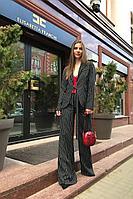 Женский осенний черный деловой деловой костюм Danaida К-1001 42р.