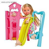Кукла «Еви», набор «Игровая площадка для питомцев», 12 см