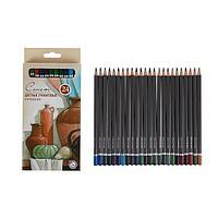 Карандаши художественные цветные графитовые «Сонет», 24 цвета