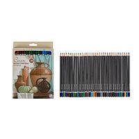 Карандаши художественные цветные графитовые «Сонет», 36 цветов