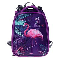 "Рюкзак каркасный, Stavia, 38 х 30 х 16 см, для девочки, эргономичная спинка, ""Фламинго"""
