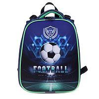 "Рюкзак каркасный, Stavia, 38 х 30 х 16 см, для мальчика, эргономичная спинка, ""Футбол-2"""