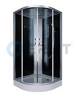 Душевая кабина Erlit ER3510P-C4 1000*1000*2150 низкий (СЕРЫЙ) поддон, тонированное стекло