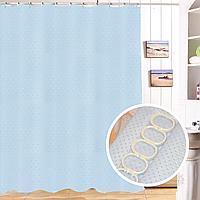 Водонепроницаемая тканевая шторка для ванной Xiang Ju для душа 180х180 см светло-синяя