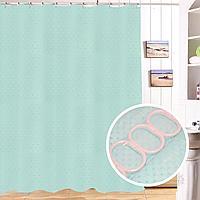 Водонепроницаемая тканевая шторка для ванной Xiang Ju для душа 180х180 см голубая