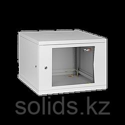 Настенный разборный шкаф  9U стекло 600х350