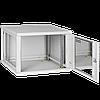 Настенный разборный шкаф  9U стекло 600х350, фото 2