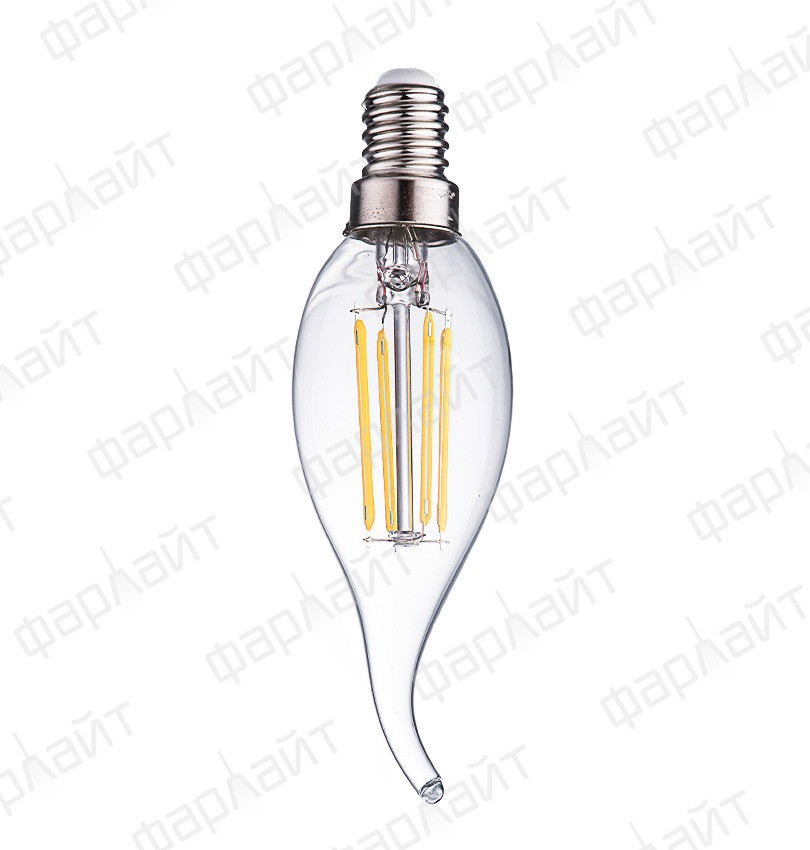 Лампа светодиодная нитевидная прозрачная свеча на ветру СW35 7Вт 4000К Е14 Фарлайт