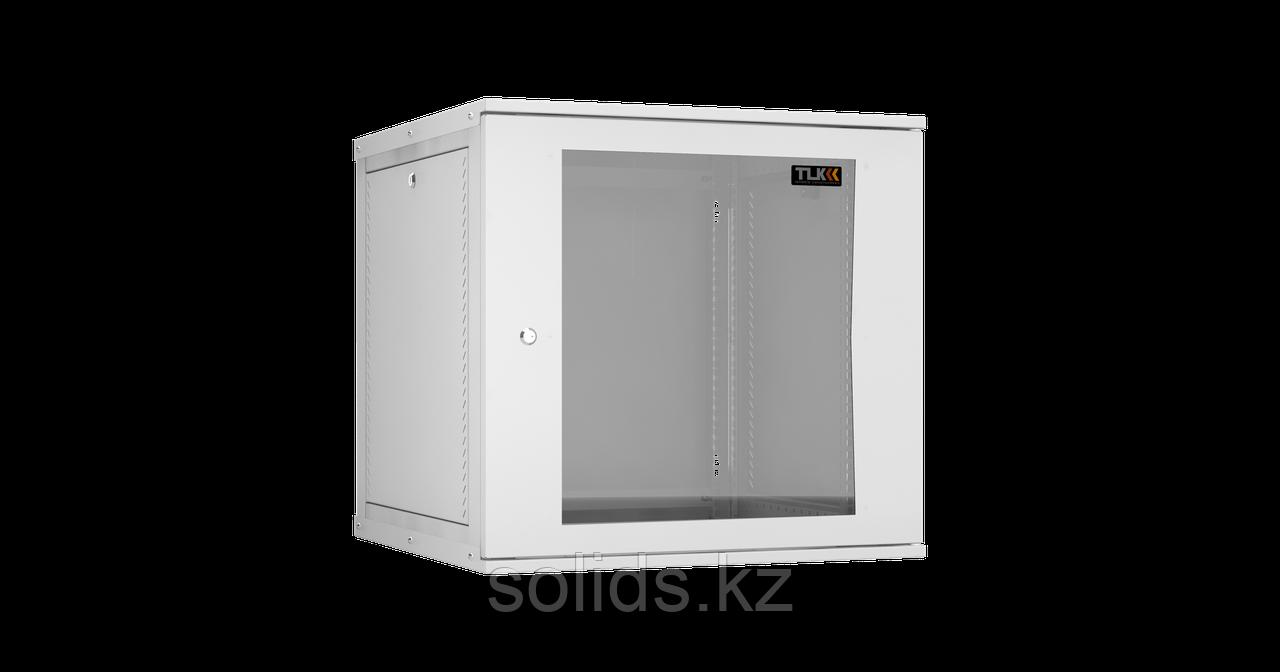 Настенный разборный шкаф 12U стекло 600х450