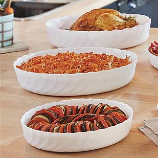Набор из 3-х жаропрочных овальных блюд Luminarc Smart Cuisine Trianon P7773