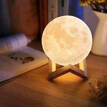 Ночник 3D светильник луна Moon Touch Control ,5 режимов