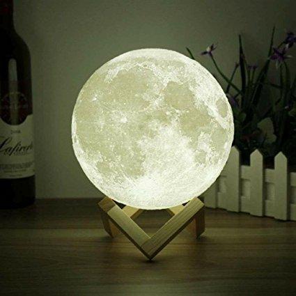 Ночник 3D светильник луна Moon Touch Control ,5 режимов, фото 2
