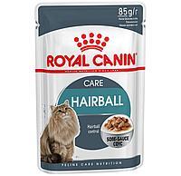 Роял Канин - Royal Canin Hairball Care Pouch кусочки в соусе для кошек, выведение шерсти 85гр.