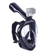 Маска для подводного  плавания (сноркелинга) с креплением для экшн камер, фото 3